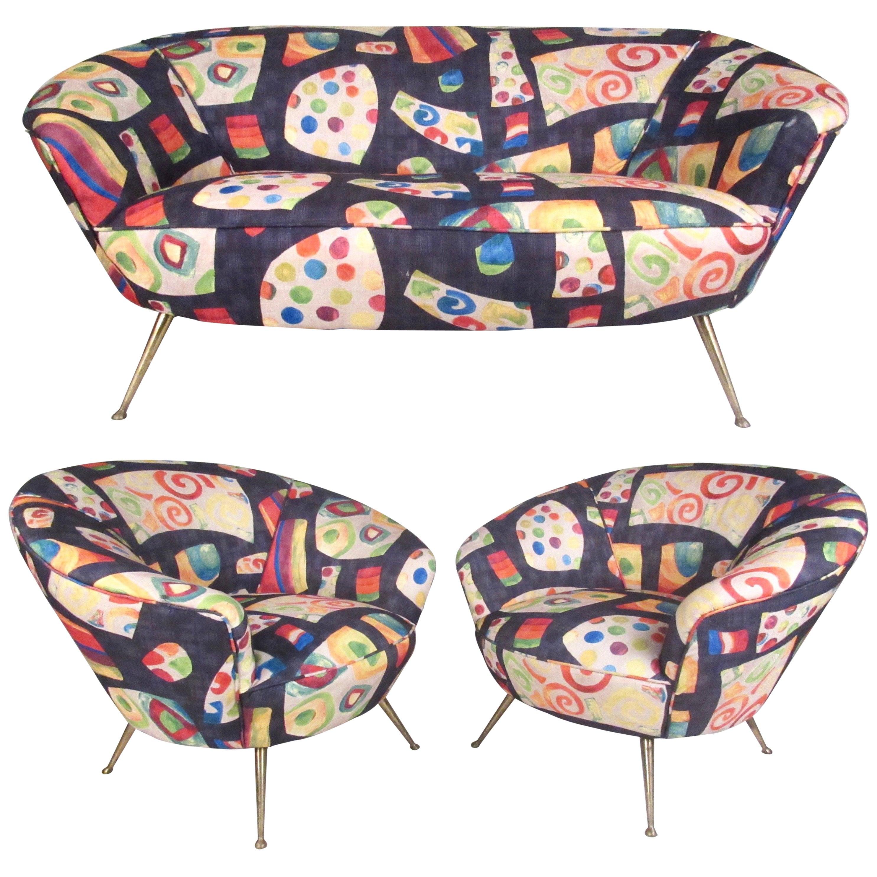Italian Modern Living Room Sofa Set
