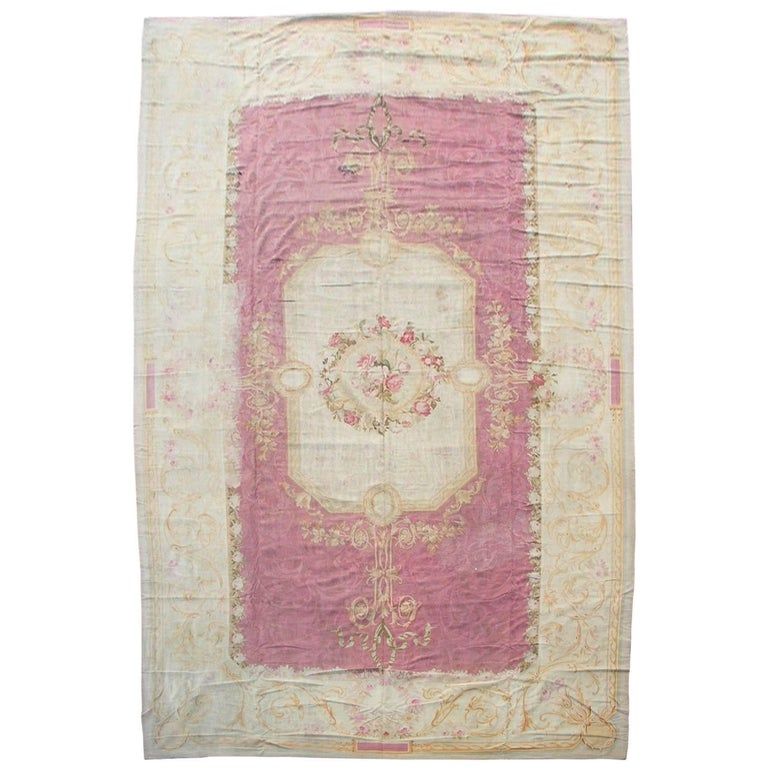 Antique French Aubusson Rug, circa 1880