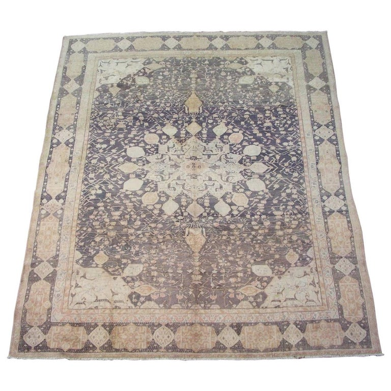 Antique Indian Agra Rug, Hand-Knotted, Circa 1890 For Sale