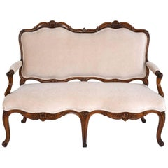French 18th Century Walnut Louis XV-Style Sofa