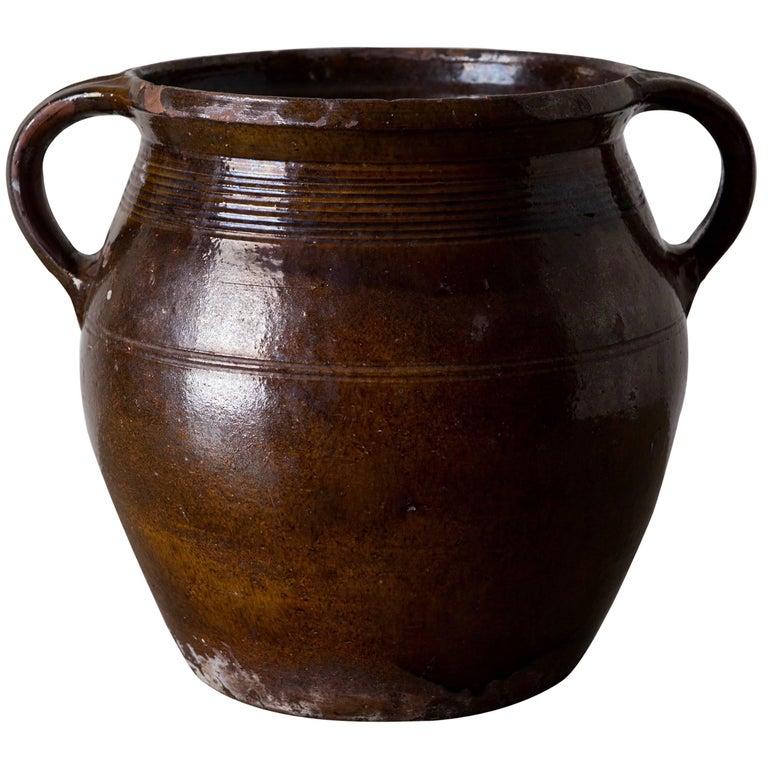 Pottery Jar Swedish, 19th Century, Sweden For Sale