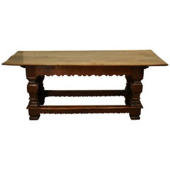 Flemish Oak Refectory Table