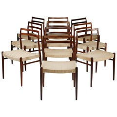 Set of Ten Chairs Model 146 Designed by Alf Arseth for Gustav Bahus Eftf