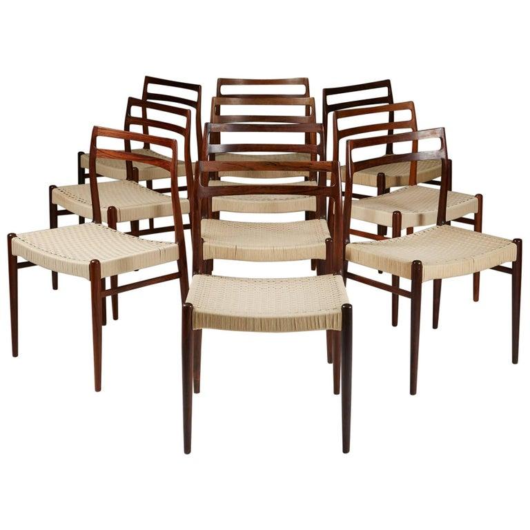 Set of Ten Chairs Model 146 Designed by Alf Arseth for Gustav Bahus Eftf