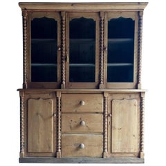 Antique Black Forest Gothic Style Solid Pine Dresser Cabinet, circa 1875
