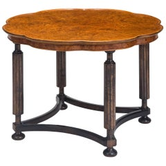 Swedish Grace Birch and Burlwood Coffee or Side Table
