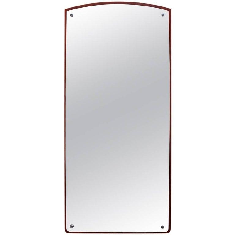 Mirror in Teak of Danish Design from the 1960s