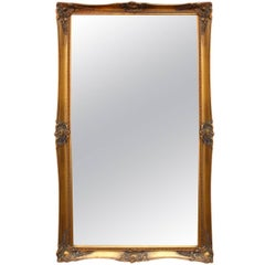Large Mirror with a Gilded Frame from Around the 1930s
