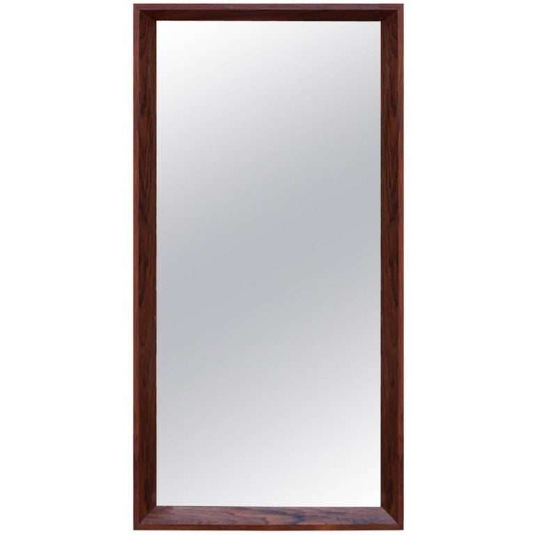 Mirror in Rosewood of Danish Design from the 1960s