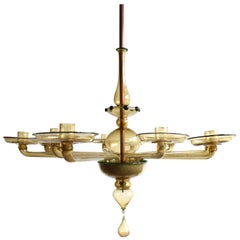 Twelve-Arm Murano Glass Candelabra