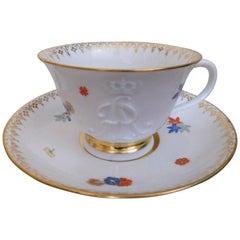 Late 19th Century Meissen Porcelain Augustus Rex Kakiemon Cup and Saucer