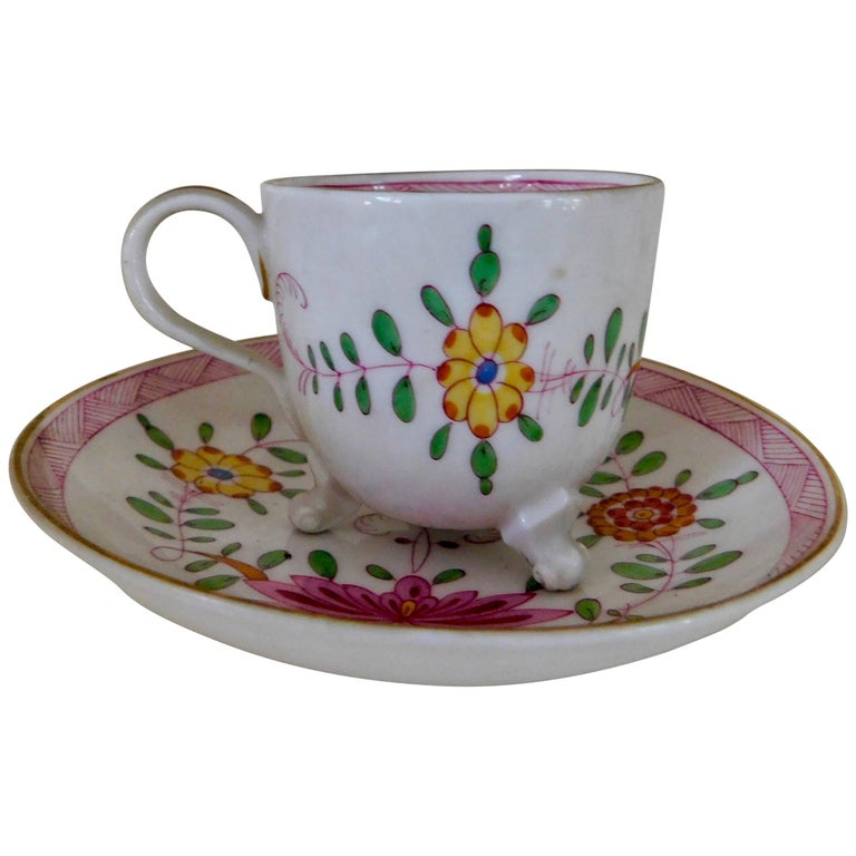Meissen Demitasse Marcolini Cup and Saucer Asian Kakiemon Style, 18th Century