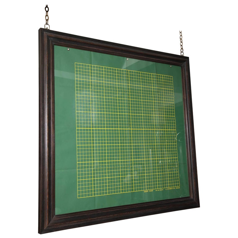 Framed Graph Chart For Sale