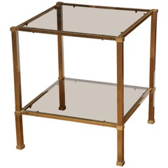 Two-Tier Brass Side Table