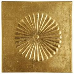 Gilded Panel with Chrysanthemum Motif