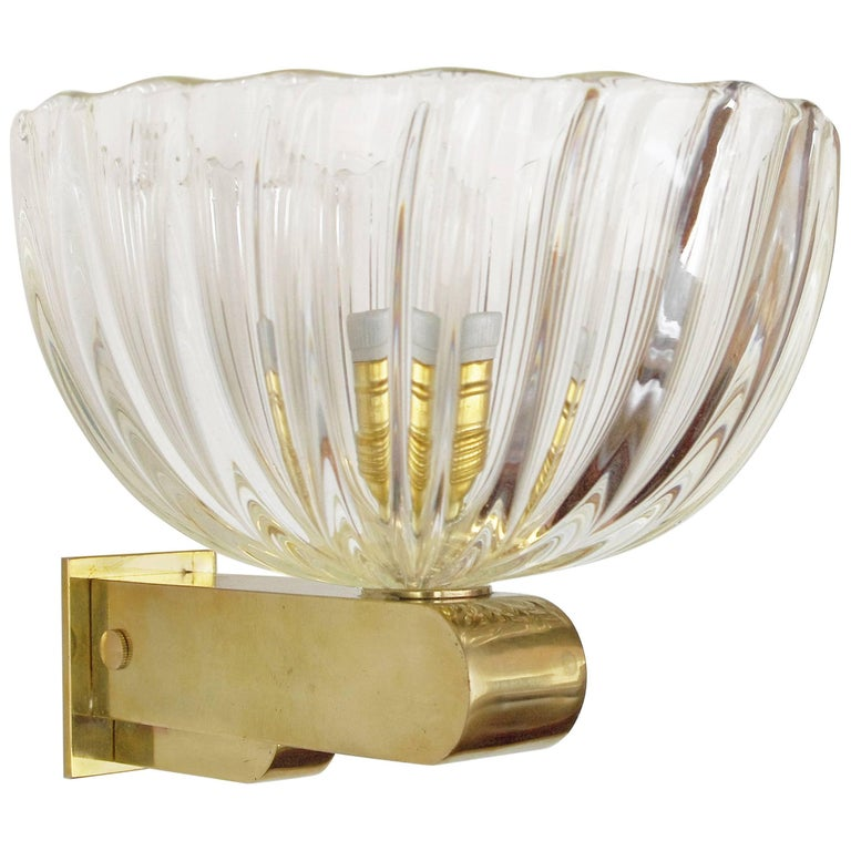Italian Glass Wall Sconces : Italian Murano Glass Sconce For Sale at 1stdibs