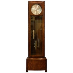 German Art Deco Grandfather Longcase Clock, circa 1930