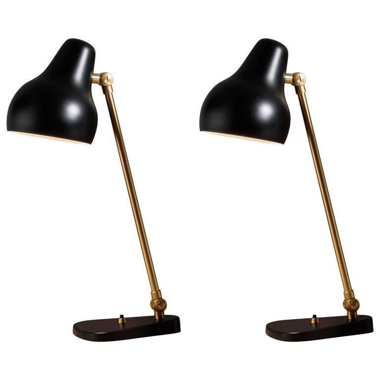 Vilhelm Lauritzen Black 'Radiohus' Table Lamps for Louis Poulsen For Sale