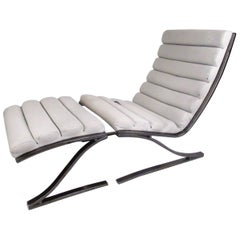 Modern Lounge Chair with Ottoman by Design Institute of America