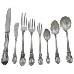 American Victorian by Lunt Sterling Silver Flatware Set 18 Service 147 Pcs Huge