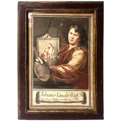 (after) Adriaen Van Der Werff, Self Portrait, ca. 18th Century mezzotint