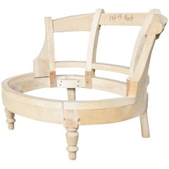 Unfinished Frame for a Napoleon III Style Slipper Chair