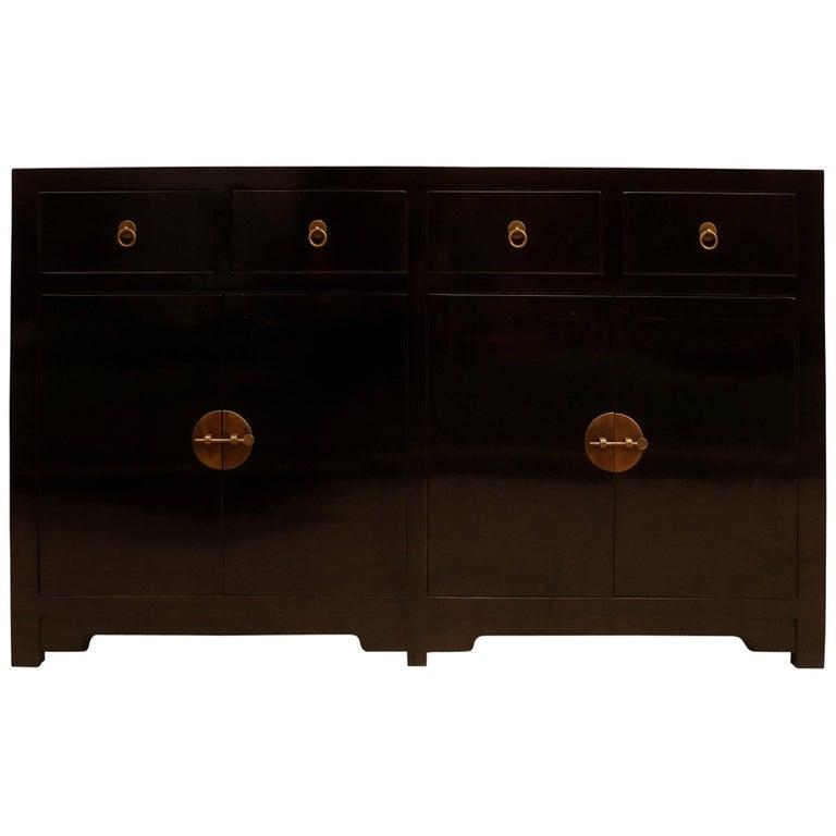Fine Black Lacquer Sideboard