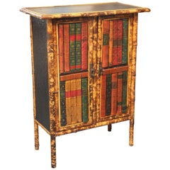 Superb English Bamboo Bookcase