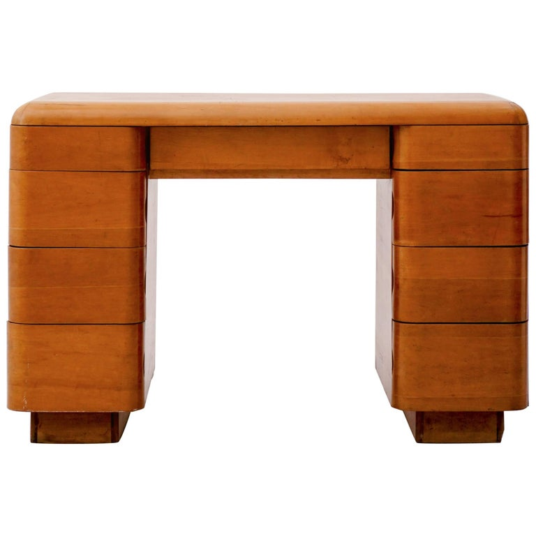 Paul Goldman Maple Desk For Sale