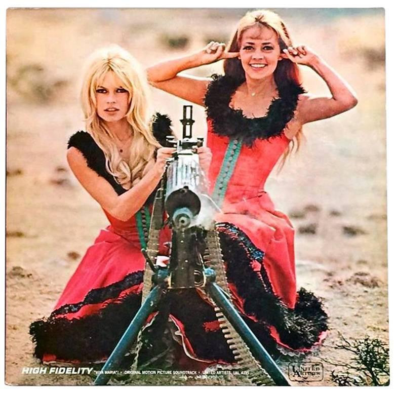 Vintage Brigitte Bardot, Jeanne Moreau Vinyl Record