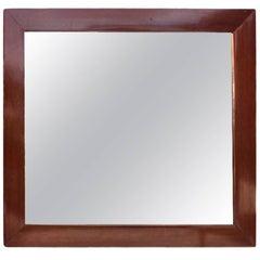 Small Mirror in Polished Mahogany from circa 1920s