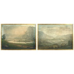 Early 19th Century Pair of Watercolours of the Scottish Highlands