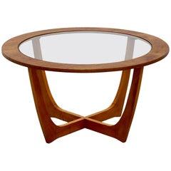 Vintage Danish Round Coffee Table, circa 1970