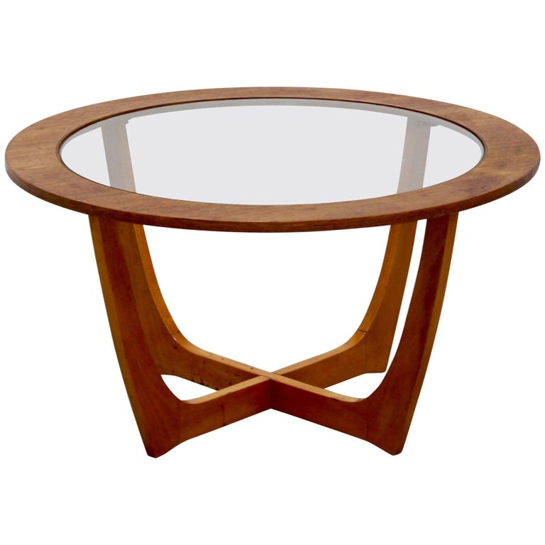 Vintage Danish Round Coffee Table, circa 1970 For Sale