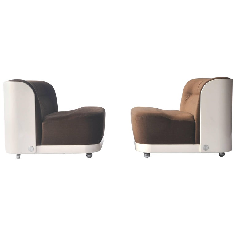 """Pair of """"Trinom"""" Lounge Chairs by Peter Maly"""
