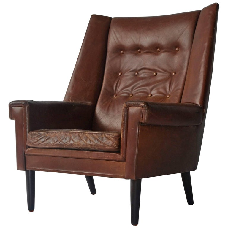 High Back Danish Lounge Chair