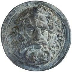Early 19th Century Lead Roundel Depicting Zeus