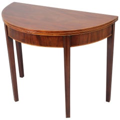 George III Period Mahogany Semi-Circular Tea-Table