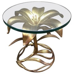 Arthur Court Gilded Lily End Table