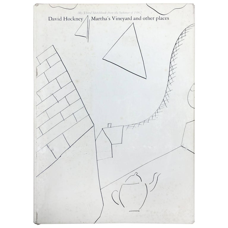 David Hockney, Martha's Vineyard and Other Places, First Edition For Sale