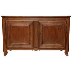 18th Century French Country Oak Sideboard with Two Paneled Doors