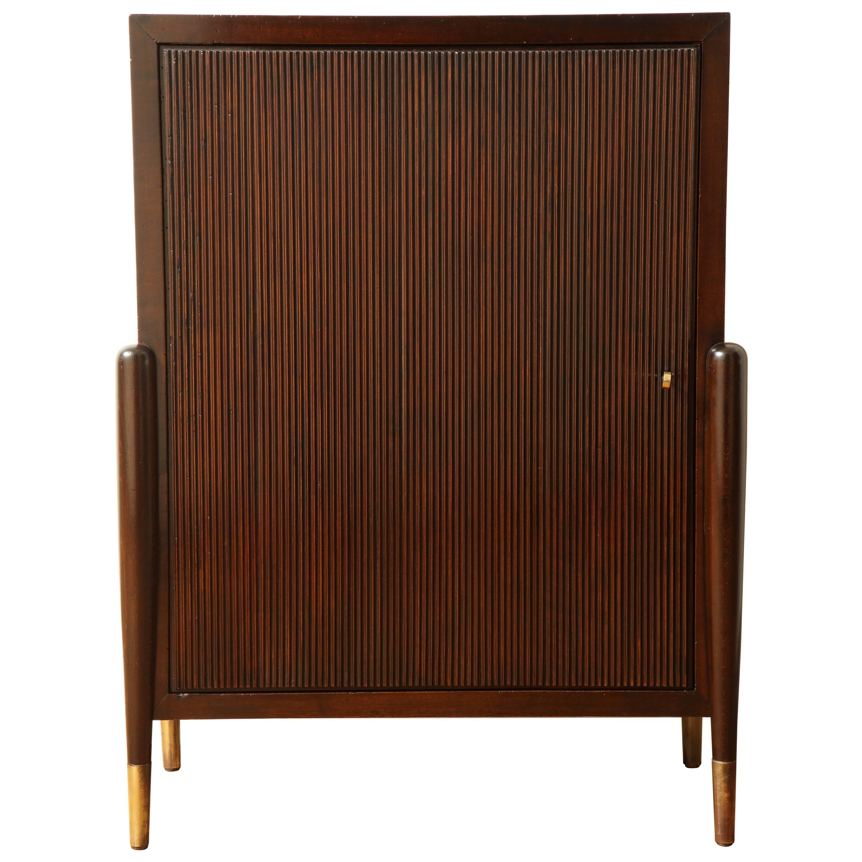 Art Deco Mahogany Cabinet with Ribbed Door and Interior Shelves Italy 1940s For Sale  sc 1 st  1stDibs & Art Deco Mahogany Cabinet with Ribbed Door and Interior Shelves ...