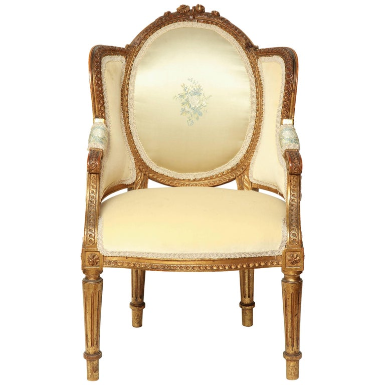 Louis XVI Carved Child's Chair