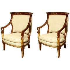 Pair of Empire Armchairs