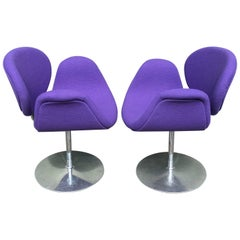 Pair of Small Tulip Chairs by Pierre Paulin for Artifort