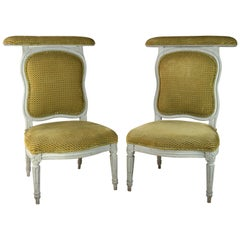 Pair of Louis XVI Painted Voyeuses