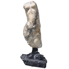Italian Abstract Marble Torso Sculpture
