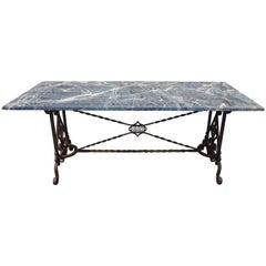 19th Century Wrought Iron Center Table/Garden Table