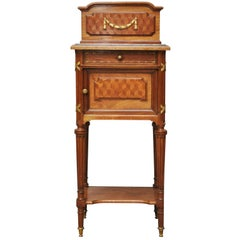 French Neoclassical Walnut Side Table