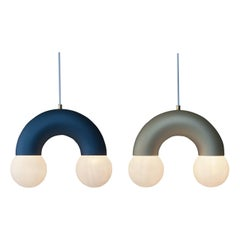 Rainbow Pendant Lamp 21th Century Modernist Contemporary Aluminium Anodized Tube